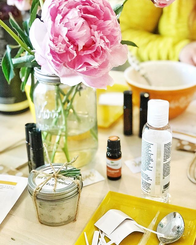 We still have space open for our essential oil rollerball and bath scrub workshop tomorrow! Sign up at ohfshop.com :) $30 and you'll take home 2 rollerballs and a salt scrub 🌻 Happy Friday friends!