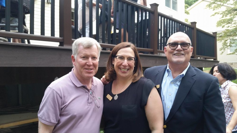 POF's Annual Campaign Kick-off BBQ with Candidates for Council Andrew Rudman & Robin Roland Levy with Senator Bob Gordon