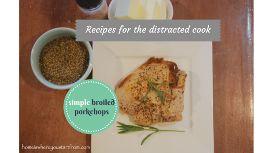 simple broiled porkchops