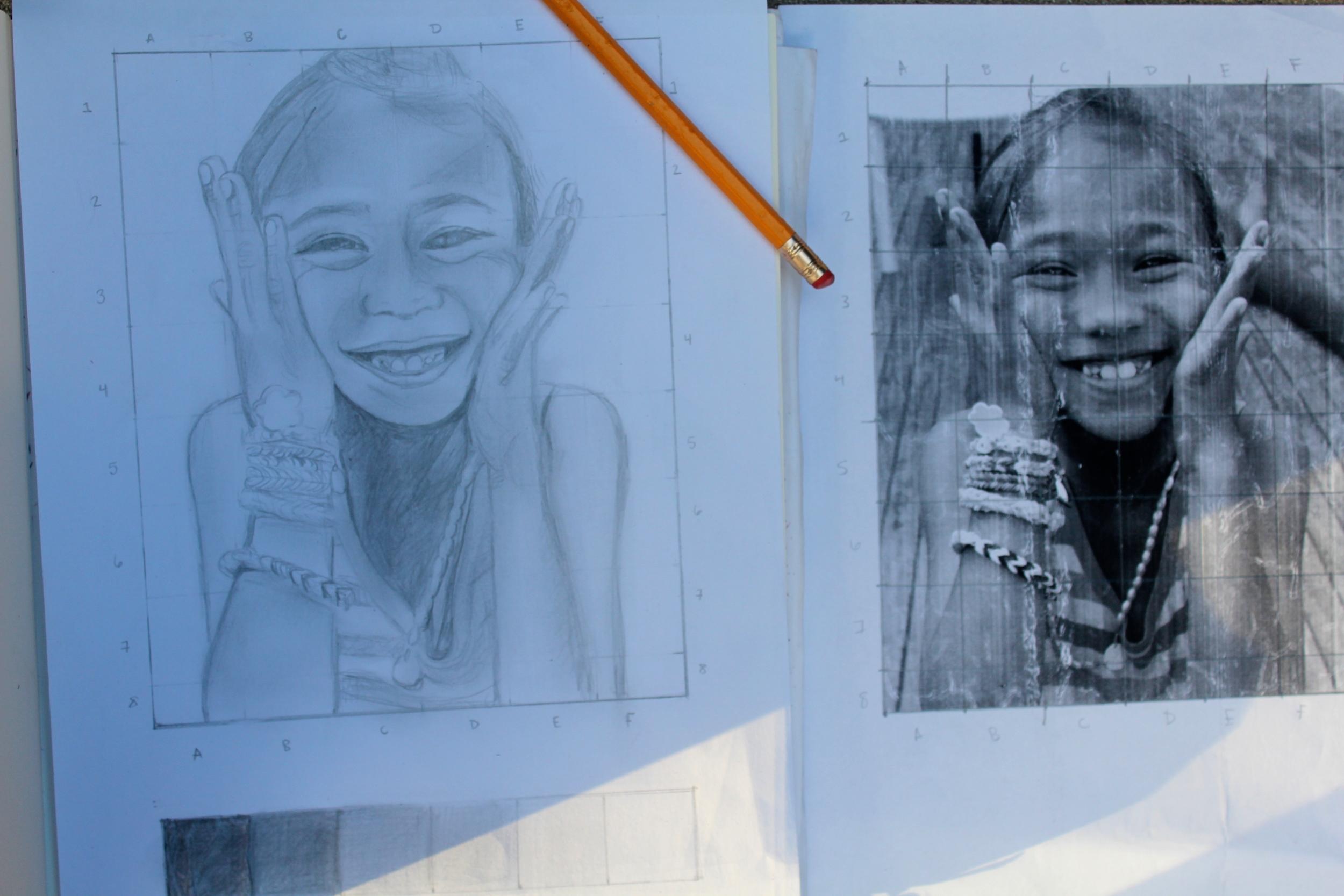 Self Portrait in process