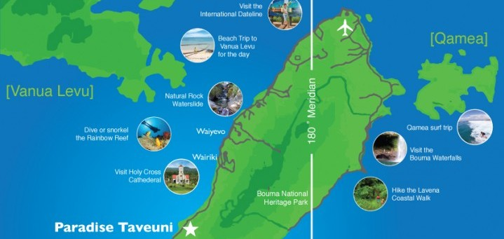 Taveuni Activities Map