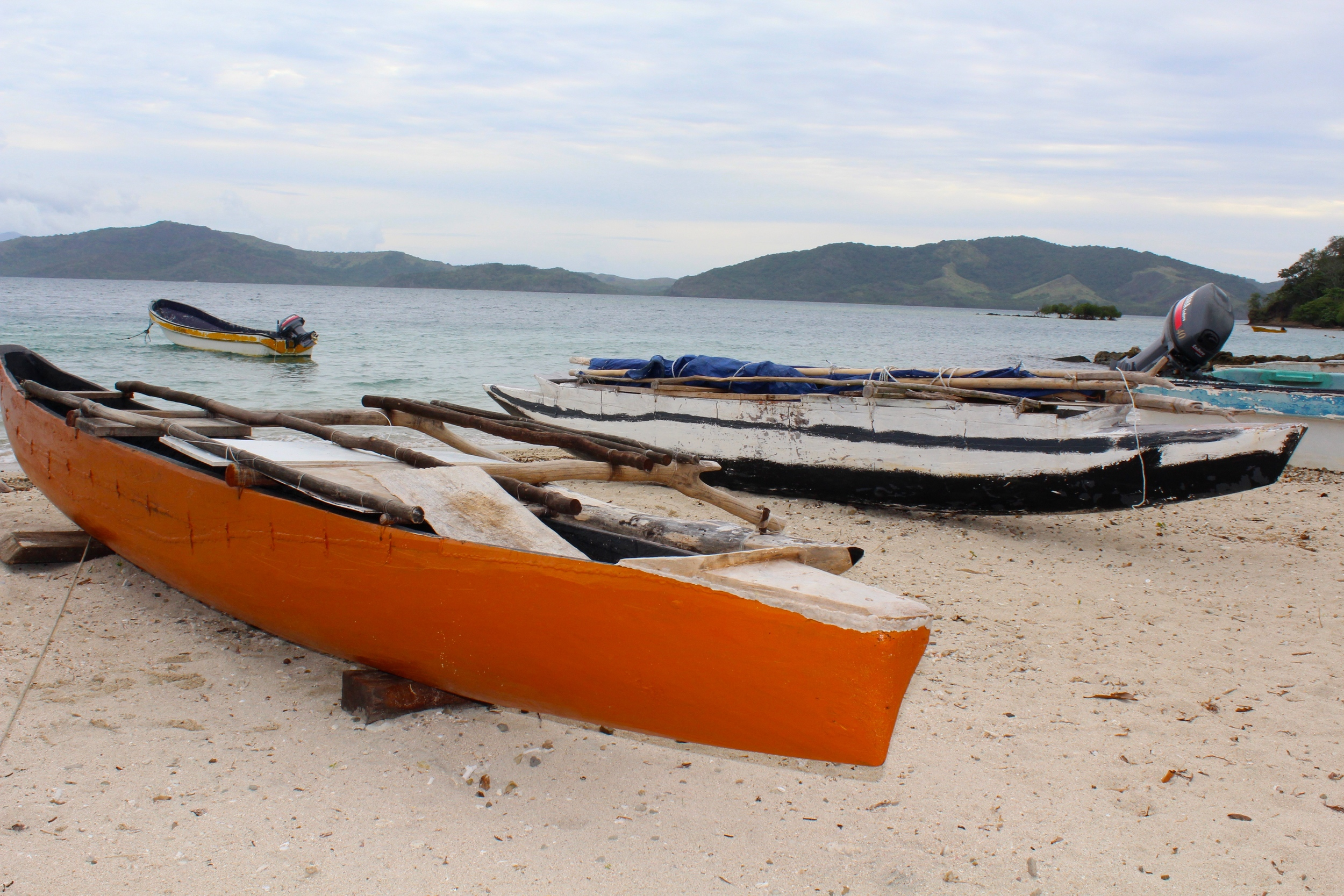 Polynesian canoes in Kioa