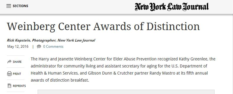 Weinberg Awards of Distinction
