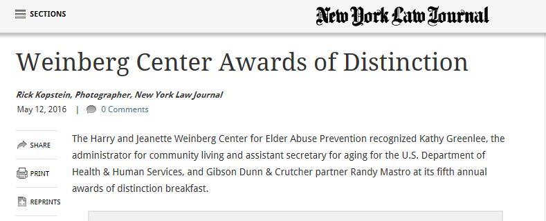 Weinberg Awards of Distinction