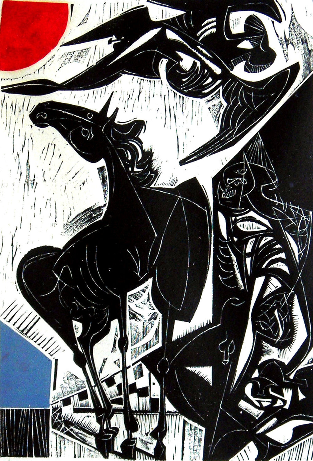 Vincent Hložník (Slovak, 1919-1997), Untitled, from Dreams, 1962, linocut, 23 5/8 x 16 3/8 inches. HHAR 1421.