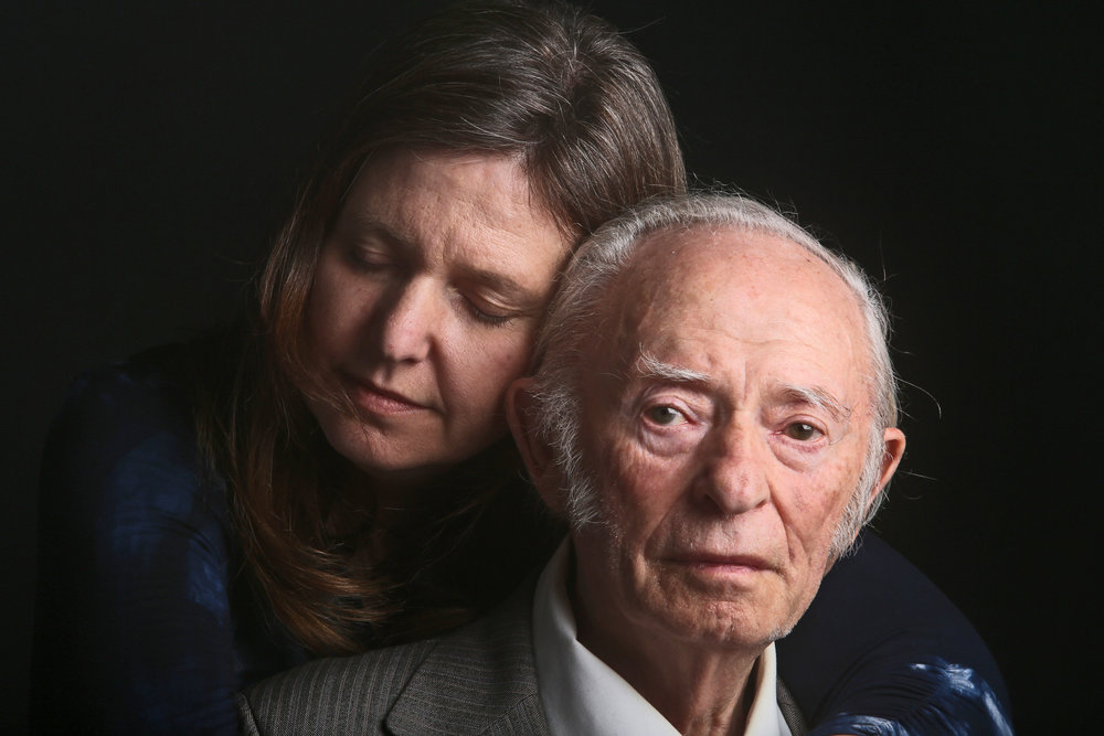 Seth Harrison, Jacob Breitstein, 93, and his daughter, Grace Bennett, 54, of Chappaqua, April 25, 2015, digital photographic print. Courtesy of the photographer.