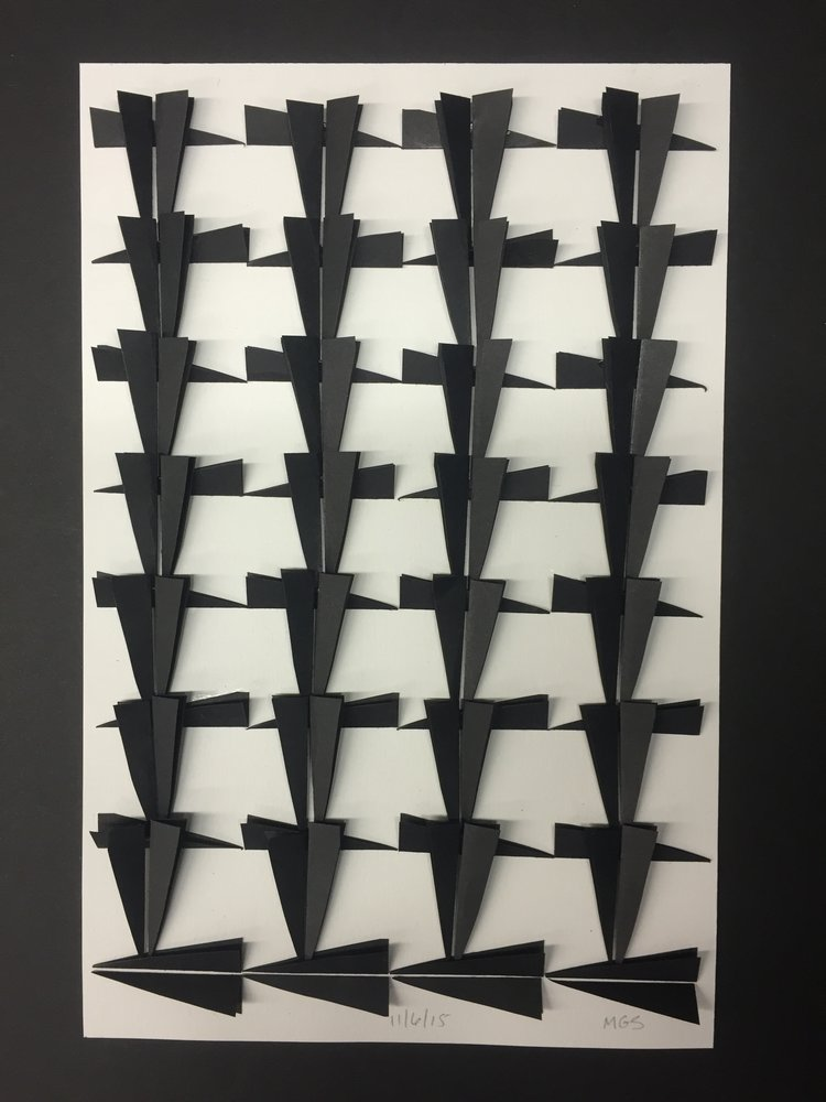 A cut paper work from Marisa Gonzales Silverstein's project 92 Americans. Every Day. Courtesy of the artist.