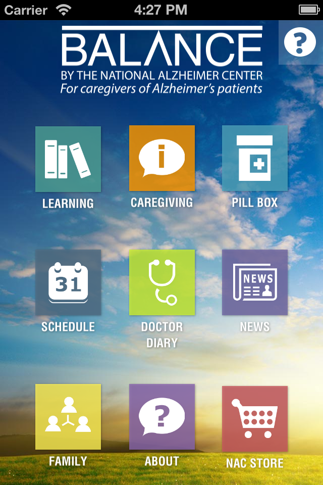 The Hebrew Home's National Alzheimer Center launches the mobile Balance App in 2013 to assist caregivers by tracking and sharing changes in real-time with the patient's doctors, learning about the latest developments in the disease, and getting vital information about what to expect as Alzheimer's progresses.