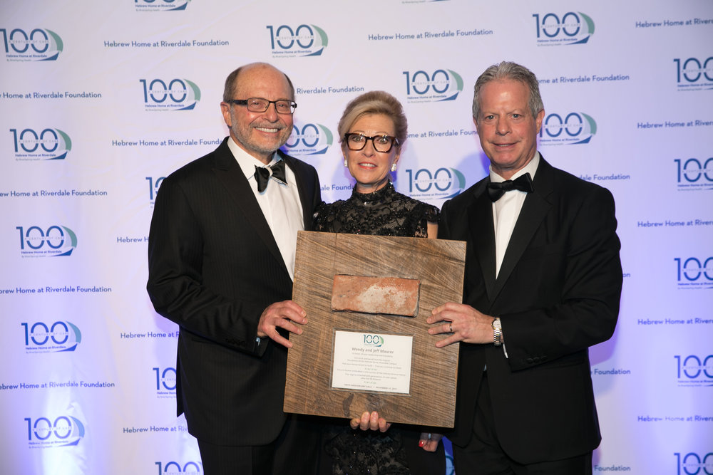 2017 Honorees, Jeffrey and Wendy Maurer with President and CEO, Daniel A. Reingold