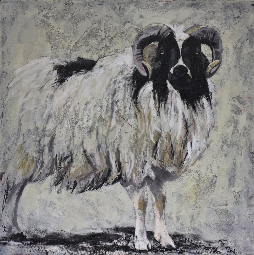 Ram    Acrylic on canvas   36x36