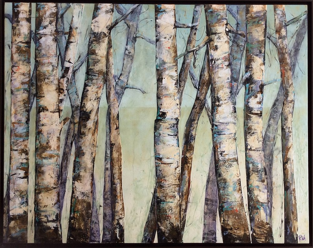 Birch Grove  Acrylic on canvas 60x36