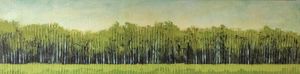 Treeline    Acrylic on canvas   48x12