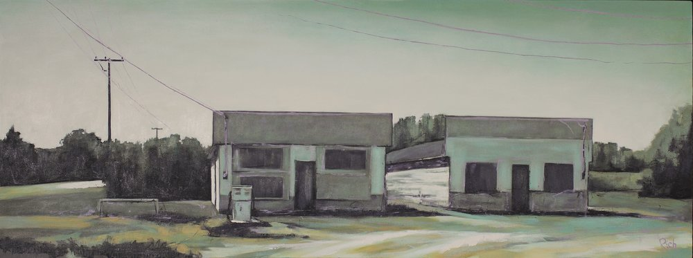 Abandoned Corner (Hnausa)  Acrylic on canvas 60x24