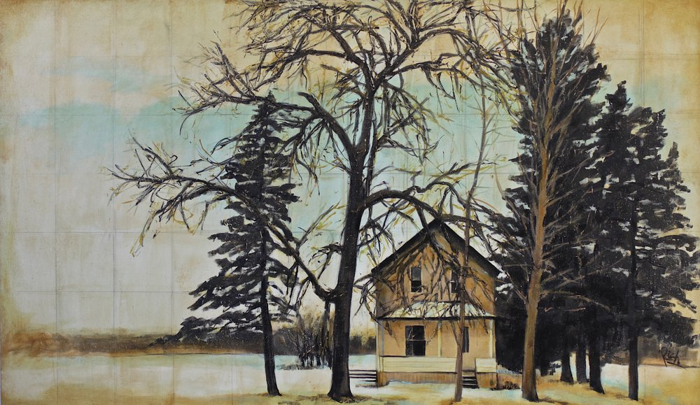 Farmhouse   Acrylic on canvas   42x24