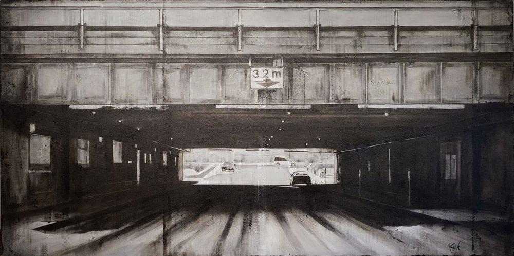 Underpass   Acrylic on canvas  84x42