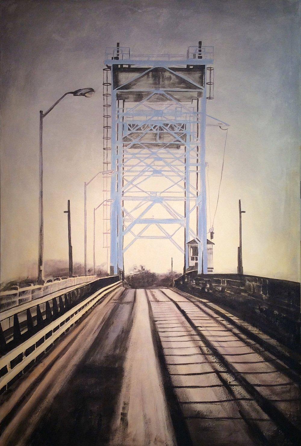 East Selkirk bridge  Acrylic on canvas 48x72
