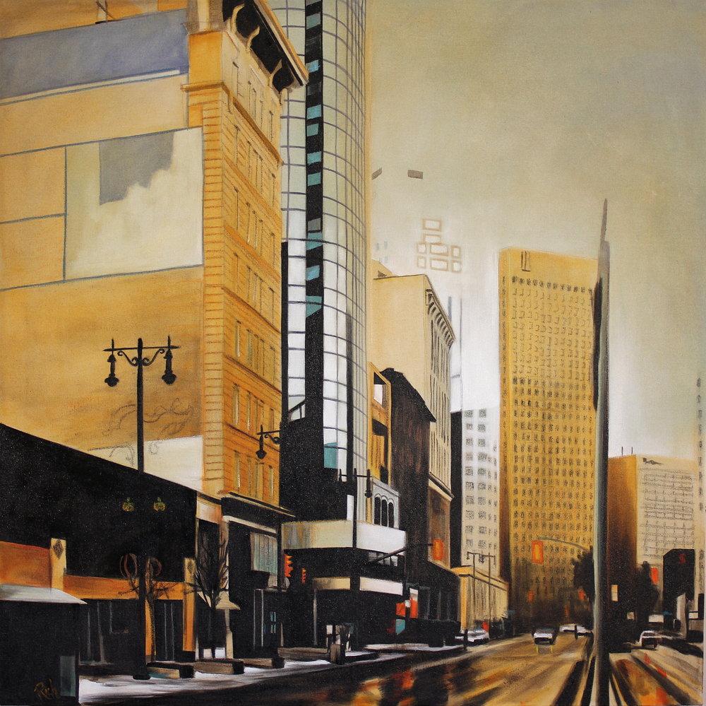 On the median  Acrylic on canvas 36x36