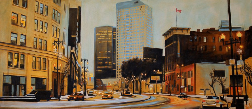 Around the bend    Acrylic on canvas   60x24
