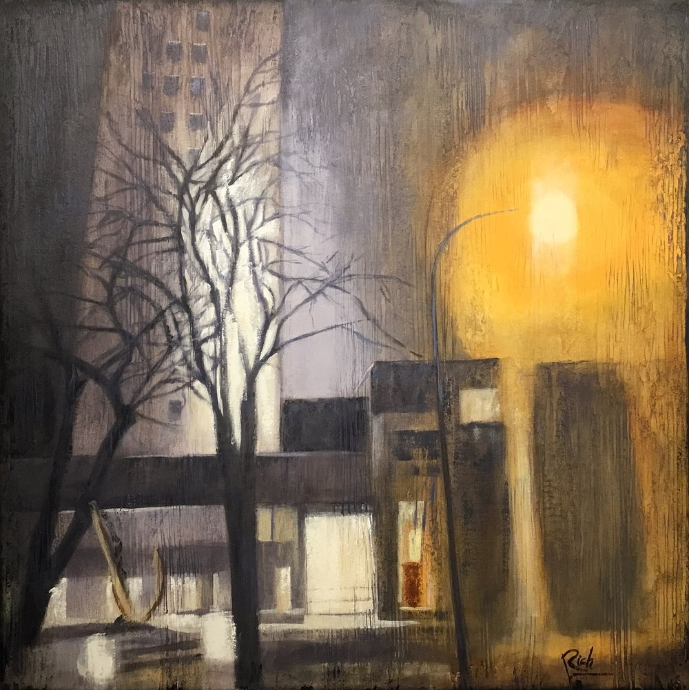 Foggy night    Acrylic on canvas   30x30