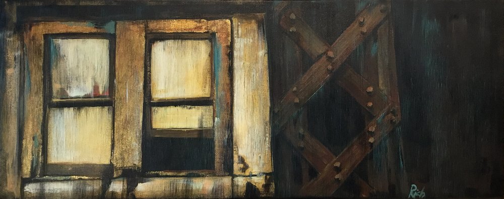 Under the bridge Acrylic on canvas 24x16