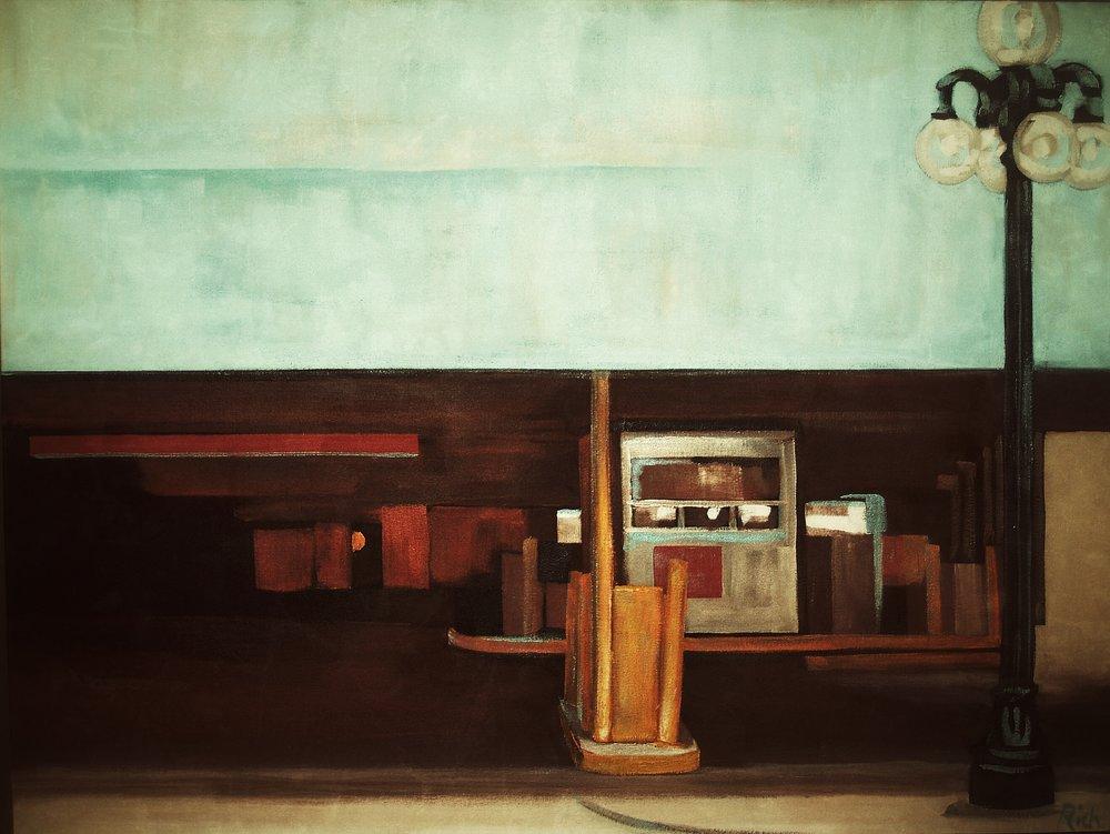 Retro parkade Acrylic on canvas  36x24