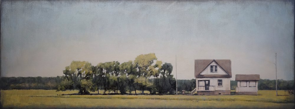 Prairie Farm  Acrylic on canvas 64x24