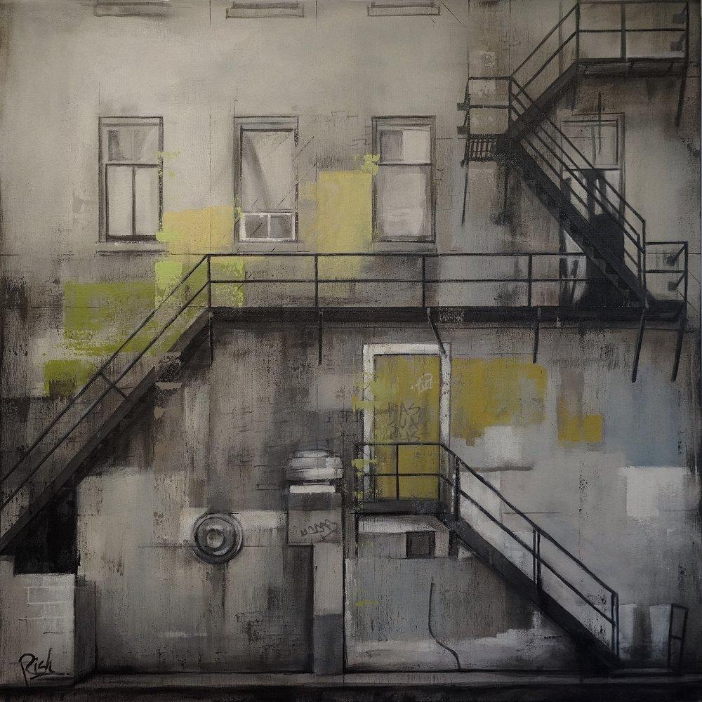 The green door  Acrylic on canvas 36x36