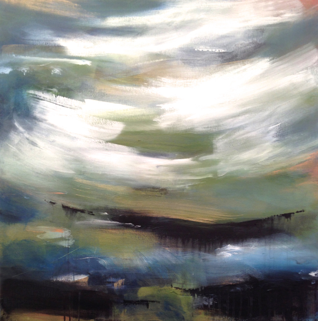 mirage  30 x 30 x 1.3 inches  mixed media on canvas  $2,240