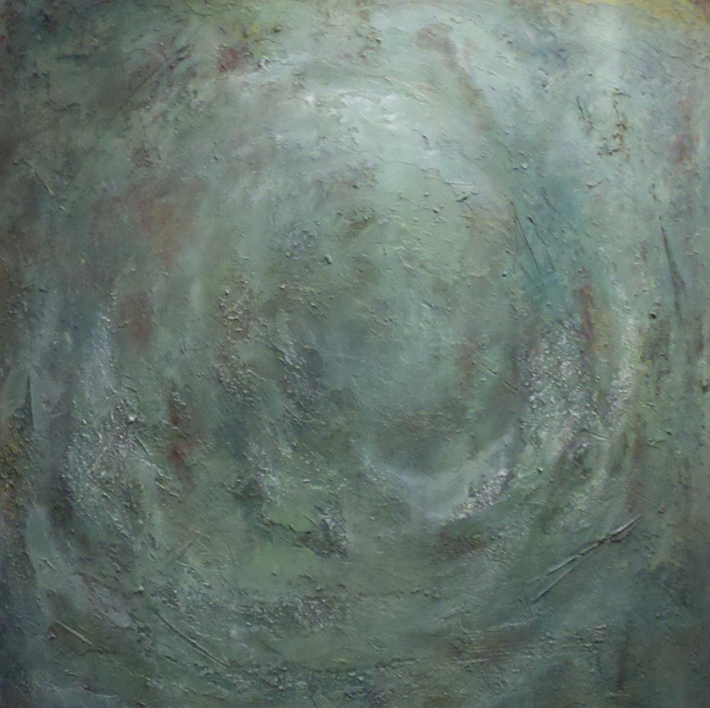 flourish  48 x 48 x 1.5 inches  mixed media on canvas  $4,750