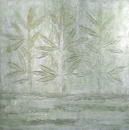 bright leaves  48 x 48 x 1.5 inches  mixed media on canvas  $4850 USD