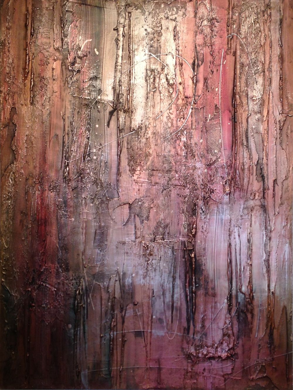 marquis  48 x 36 x 1.5 inches  mixed media, metallic powders on canvas  $2,700