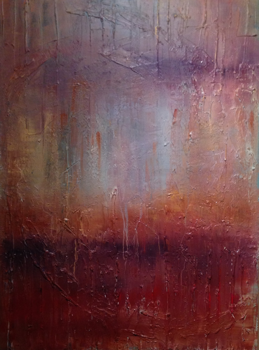 mystique  40 x 30 x 1.5 inches  mixed media on canvas  $2,700