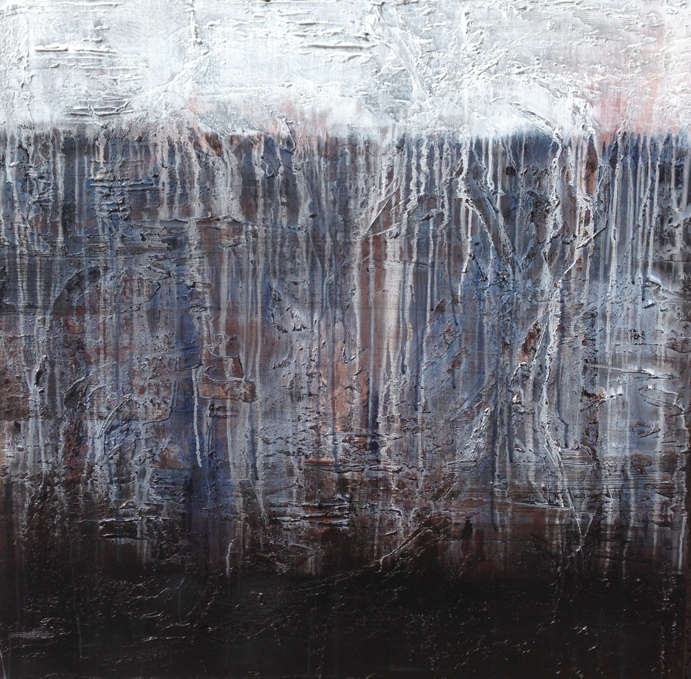 revealed II  36 x 36 X 1.5 inches  mixed media on canvas  $3200 USD