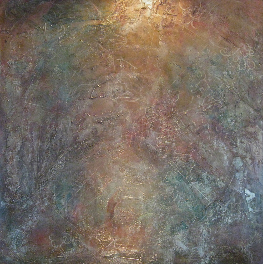 celestial  48 x 48 x 1.5 inches  mixed media on canvas  $5400 USD