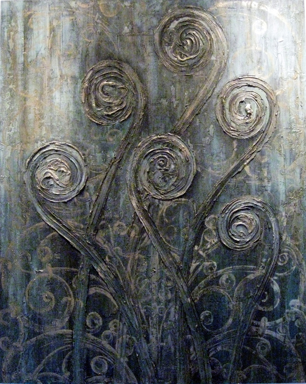 From the Source  60 x 48 inches  mixed media on canvas  $6840 USD