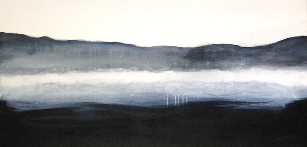 A Place Beyond  24 x 48 x 1.5 inches  acrylic on canvas  SOLD