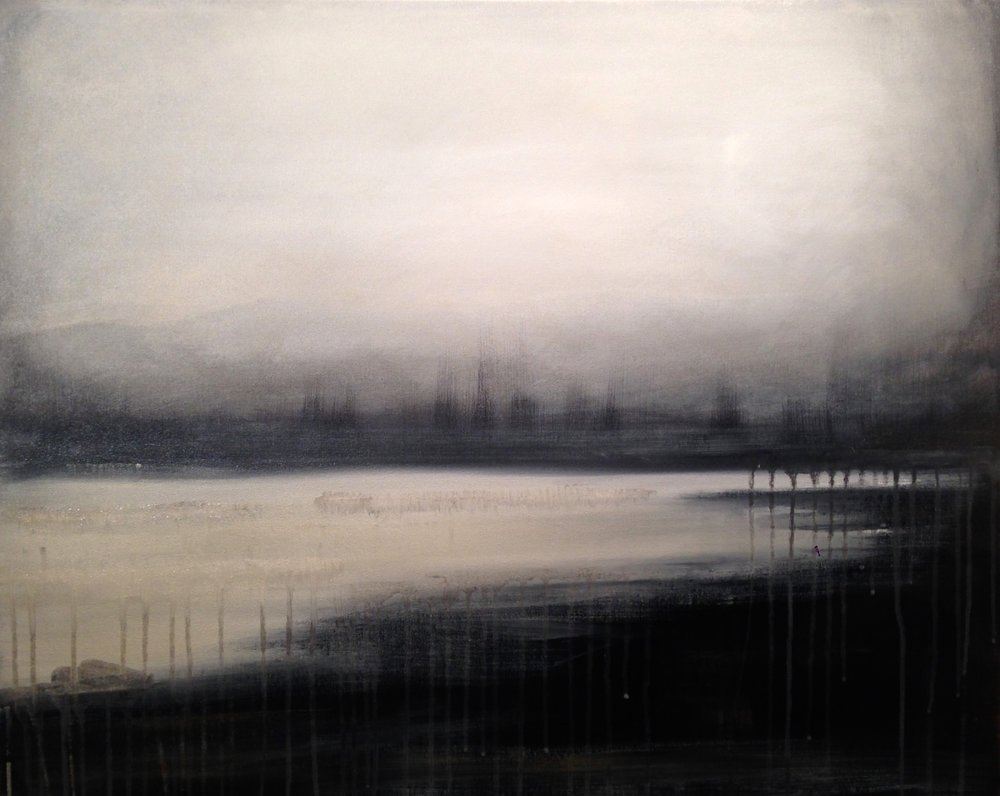 Time & Tides  24 x 30 x 1.5 inches  acrylic on canvas