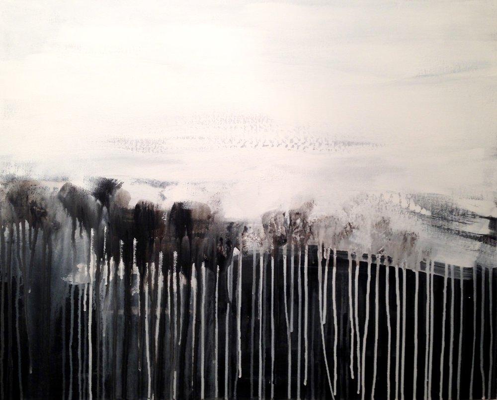 High Spirits  24 x 30 x 1.5 inches  acrylic on canvas