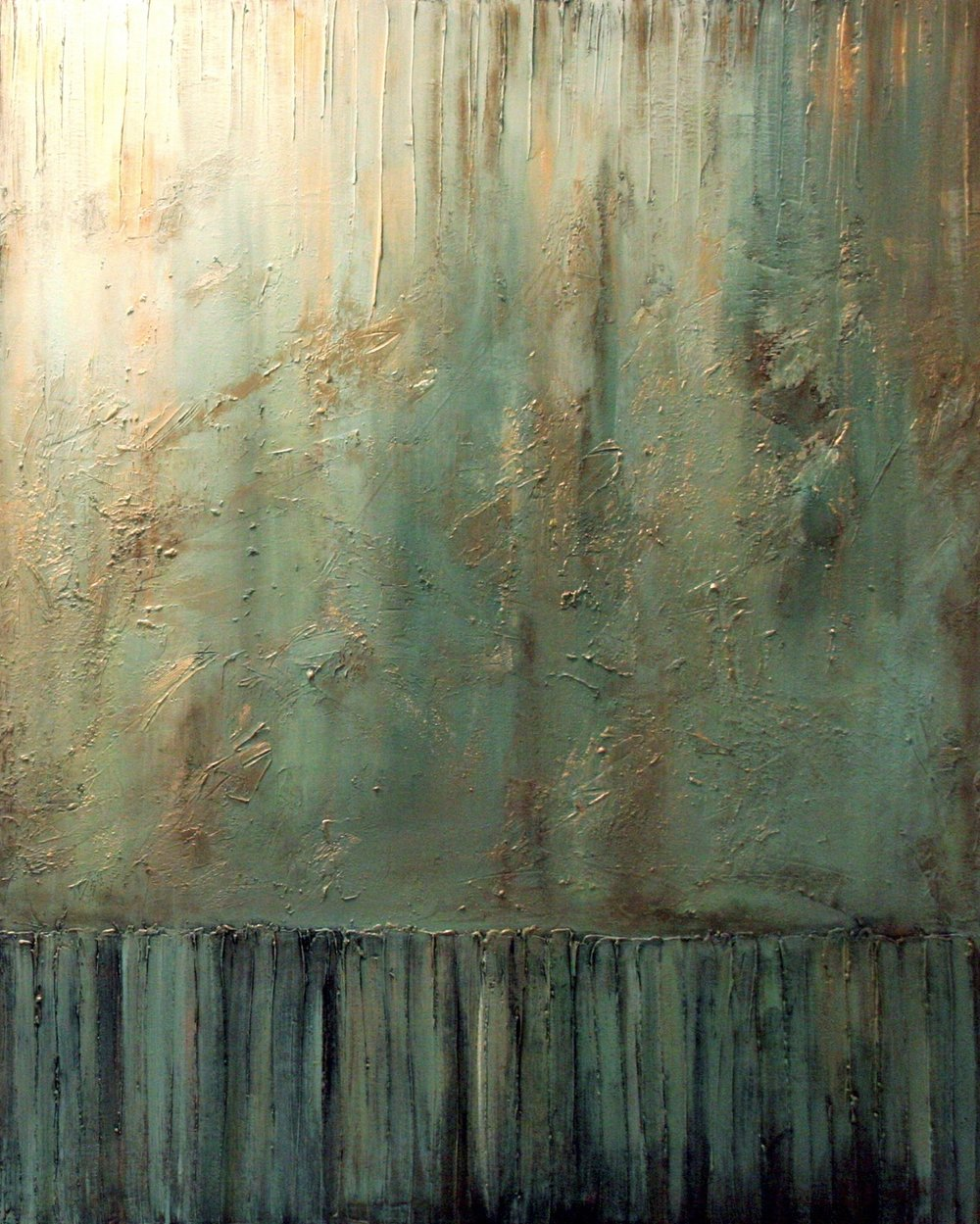 anasazi nights II  60 x 48 x 1.5 inches  mixed media + gold dust on canvas  SOLD