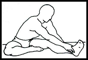 Hamstring hurdle stretch
