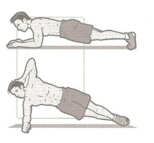 Front and side planks