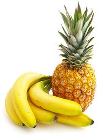 Banana and Pineapple