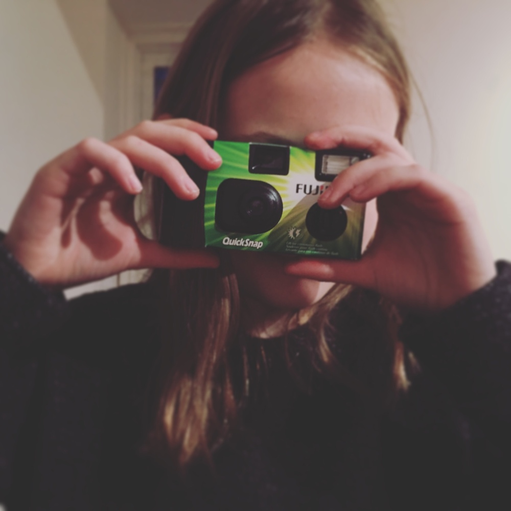 Student taking a picture for the first time on her new camera | January 26th 2016 | All Rights Reserved Heather Woolery 2016
