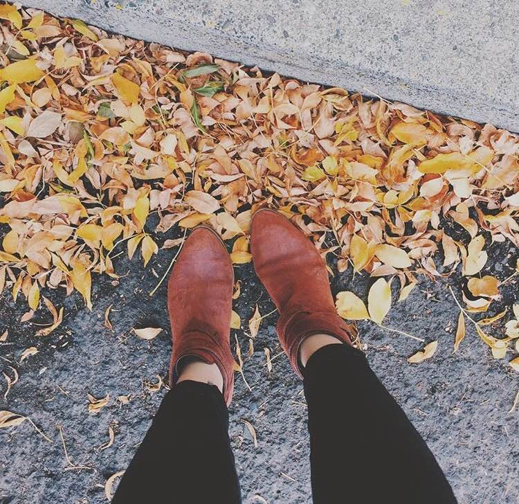 Hello Autumn.  Hello little booties.