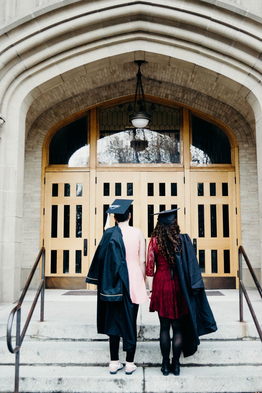 mikayla + cailin   ui graduation 2017   heather woolery