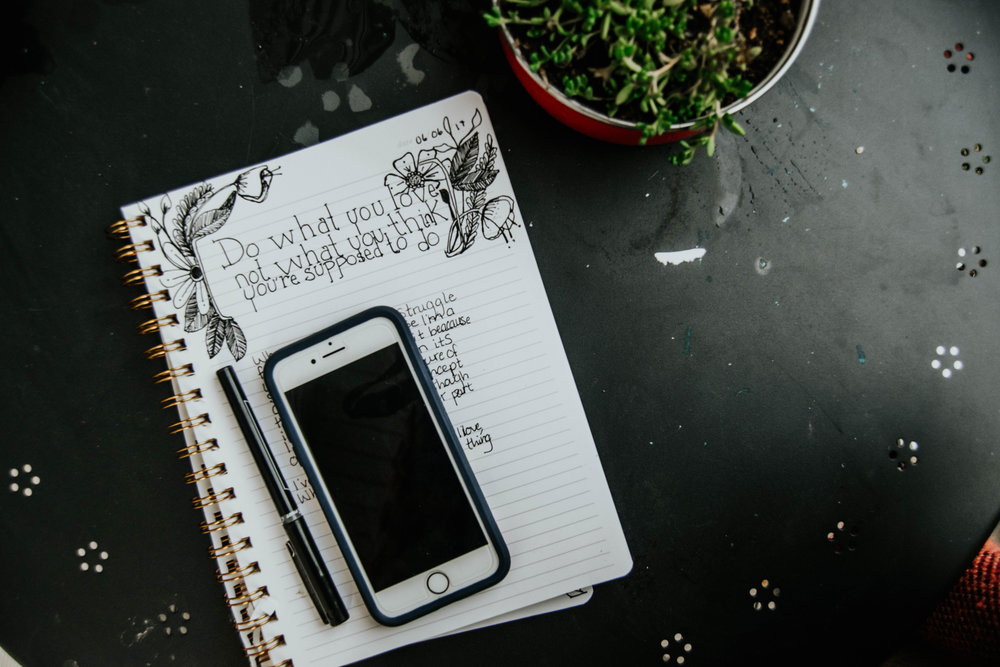 On the patio journaling | Heather Woolery '17