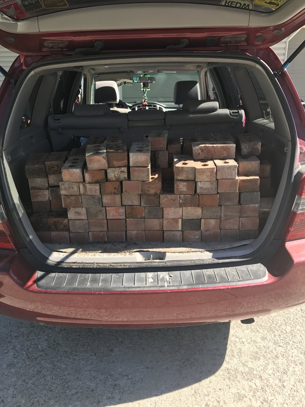 Picking up bricks for an upcoming instal | June 2017 | Heather Woolery