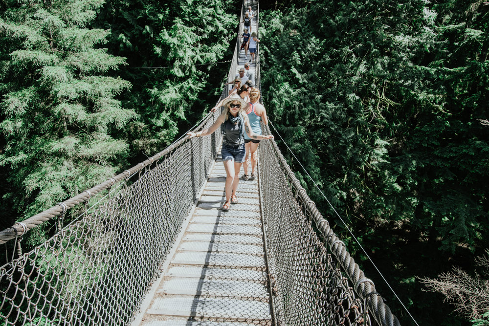 Heather Woolery | Vancouver BC | Lynn Canyon Bridge | 2017