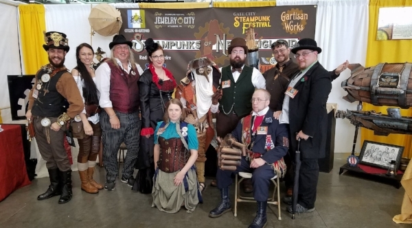 "Boston ComicCon 2017, along with fellow members of ""Steampunks of New England"""