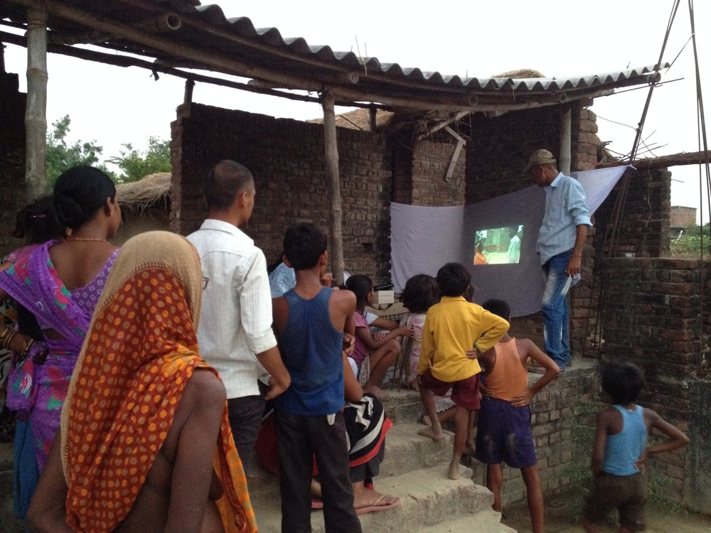 an agricultural video dissemination session in India